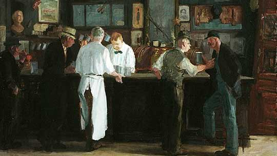 western bar scene