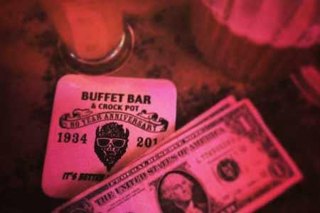 Buffet Bar for a dive bar scene