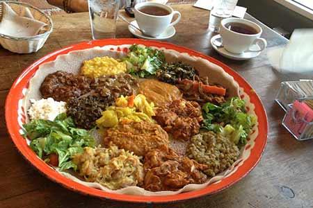 Ethiopian food in Tucson at Cafe Desta
