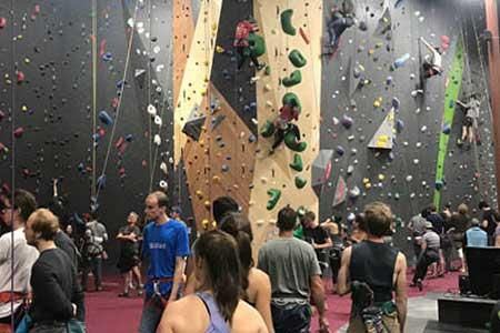 Climbing good times at Rocks and Ropes