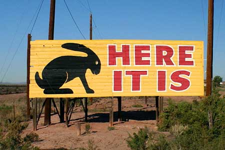 See the Jack Rabbit on Route 66