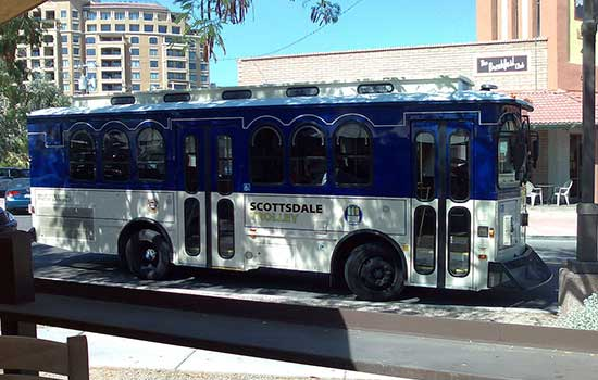 Trolley Tours are perfect for getting around Scottsdale
