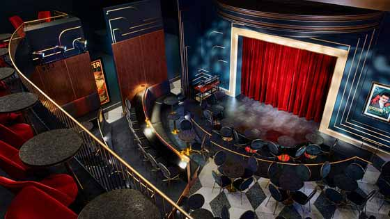 Multiple stages and bars for magic at the Chicago Magic Lounge