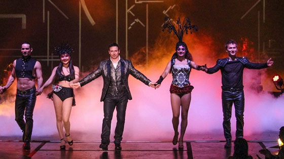 Mandrake presents his Las Vegas Stage Show with multiple actors