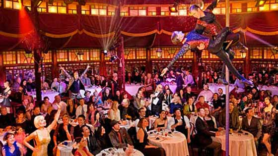 Carnival-like sideshow of magic and trapeze with Teatro Zinzanni
