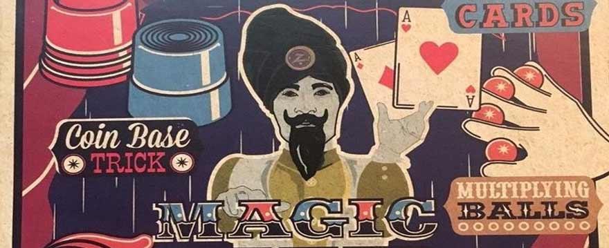 Max Malini signed playing card