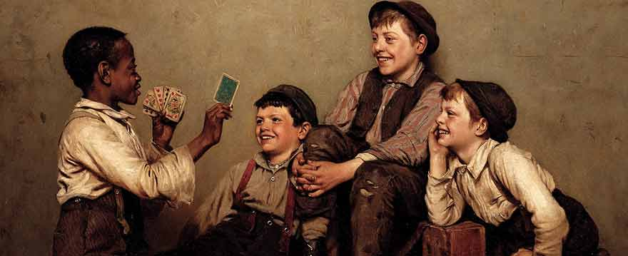 The Card Trick by John George Brown