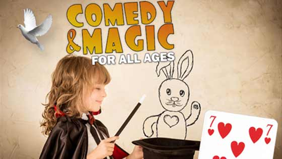 The Comedy and Magic for All Ages Show at the Addison Improv