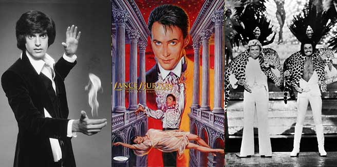 Famous magicians in Las Vegas were Lance Burton, Siegfried and Roy, and David Copperfield