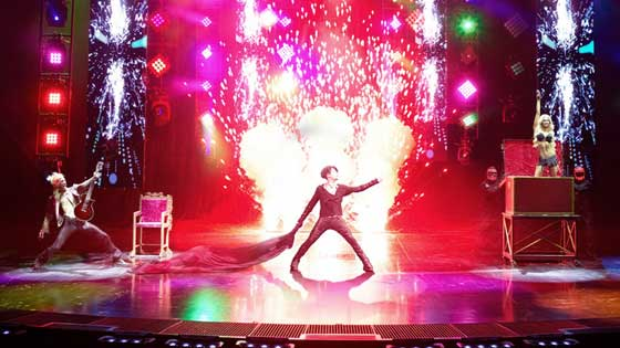 Criss Angel on stage in Mind Freak Live!