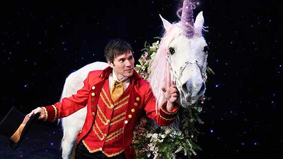 Derren Romeo performs grand illusion magic
