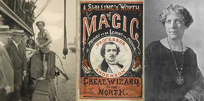 NYC Magic show history from the Wizard of the North, to Houdini in Manhattan, and spiritualism roots.