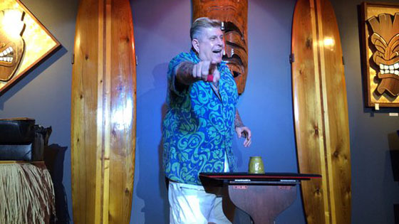 Tiki Palace of magic with Kozak making people laugh