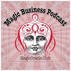 The Magic Business Podcast image with genie and URL