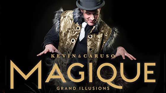 The international touring show The Illusionists stand together to demonstrate their super-power magical abilities