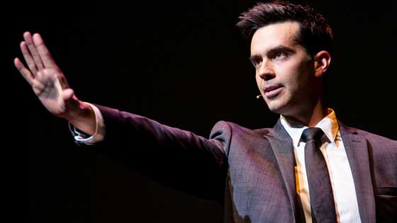 Michael Carbonaro performs live on stage