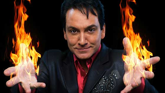 Terry Evanswood performs at Wonderworks magic theater in Pigeon Forge