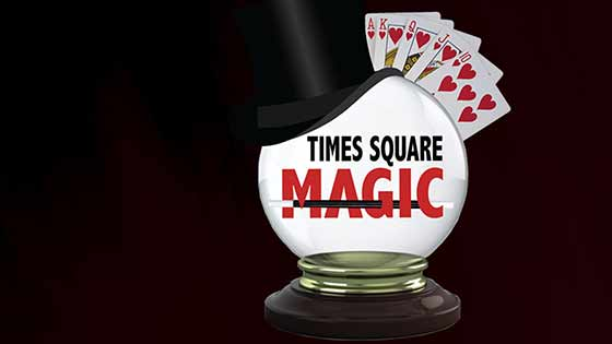 This comedy club has a nightly magic show called Times Square Magic