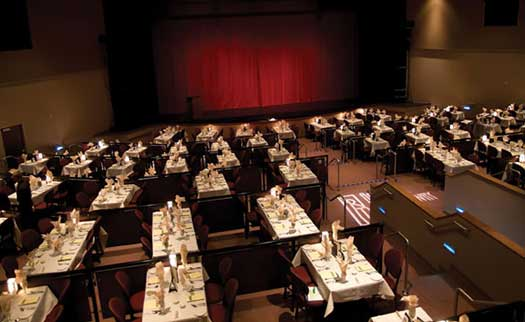 AZ Broadway Theatre runs older shows in an impressive theater with table service