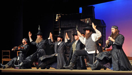 Fiddler on the Roof at the Mesa Palms Dinner Theater with all the actors taking their bows