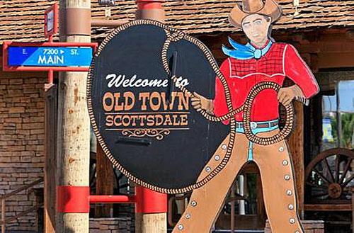 Cowboy emblem of Scottsdale