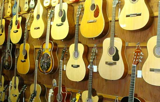 The Folk Shop has all kinds of new and used instruments