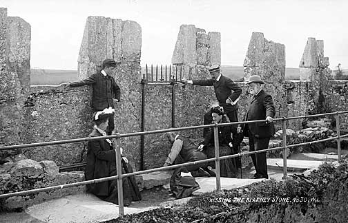 Kissing the Blarney Stone in 1897