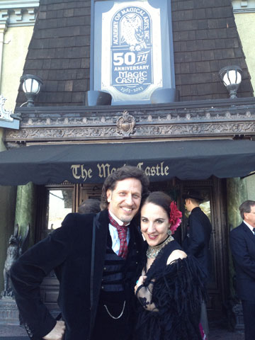 Outside the Magic Castle before our 21 show performance run.