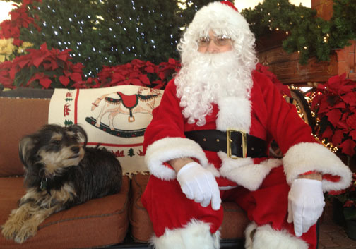 Harriette visits Santa