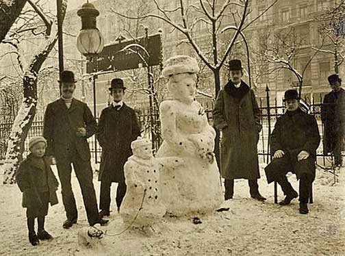 Victorian Snowman