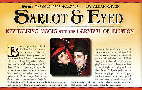 Genii magazine image of story about Carnival of Illusion