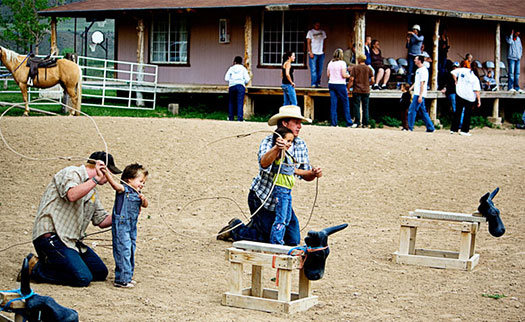 After a day on the ranch, sit down for your cowboy dinner and country entertainment.