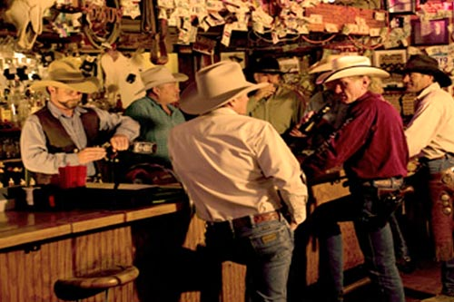 The Rusty Spur Saloon for an old west experience at the bar.