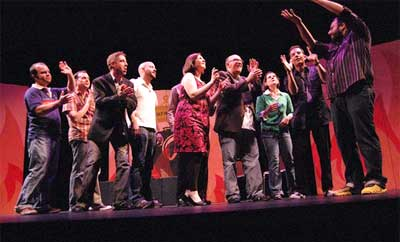 The Torch Theater presents unique live theater in Phoenix with large groups of actors on stage.